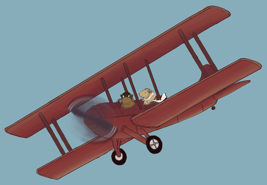 fred-george-red-biplane