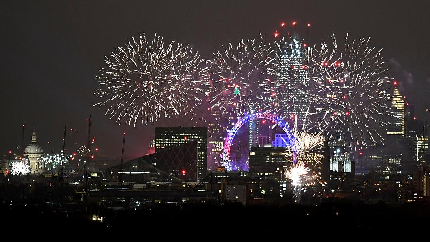 London fireworks from euronews online